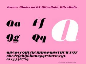 Jeanne Moderno OT UltraItalic