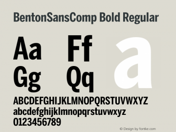 BentonSansComp Bold
