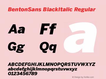 BentonSans BlackItalic