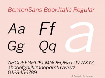 BentonSans BookItalic