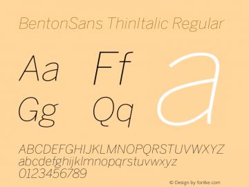 BentonSans ThinItalic