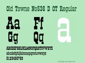 Old Towne No536 D OT