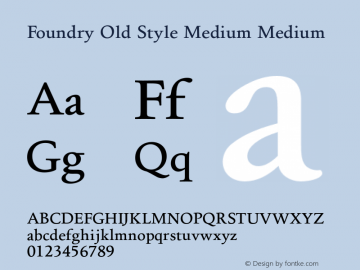 Foundry Old Style Medium