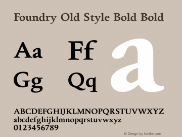 Foundry Old Style Bold
