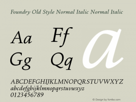 Foundry Old Style Normal Italic