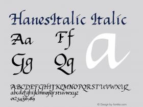 HanesItalic