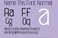 Name This Font