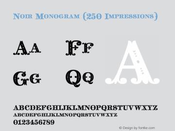 Noir Monogram