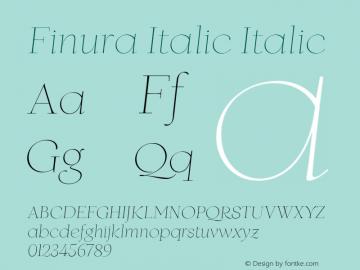 Finura Italic