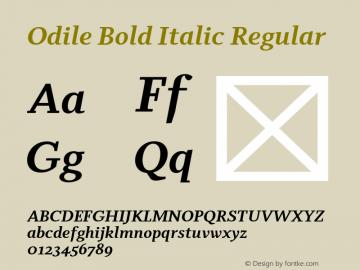 Odile Bold Italic