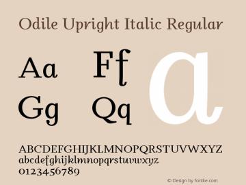 Odile Upright Italic