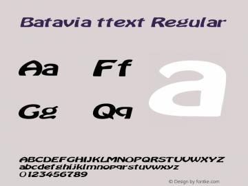 Batavia ttext