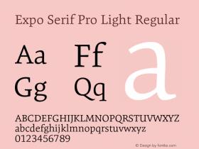 Expo Serif Pro Light
