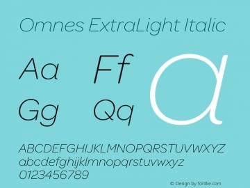 Omnes ExtraLight