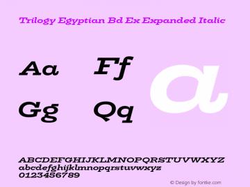 Trilogy Egyptian Bd Ex