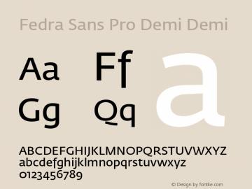 Fedra Sans Pro Demi