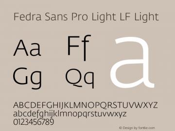 Fedra Sans Pro Light LF