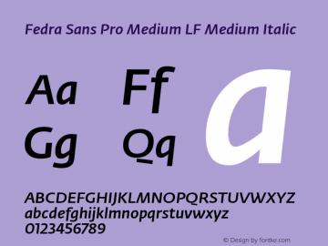 Fedra Sans Pro Medium LF