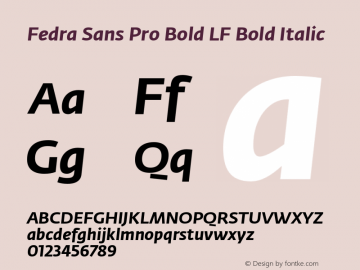 Fedra Sans Pro Bold LF