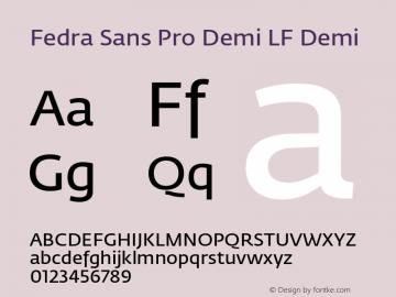 Fedra Sans Pro Demi LF