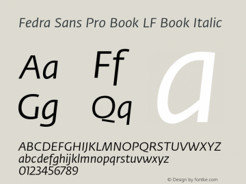 Fedra Sans Pro Book LF