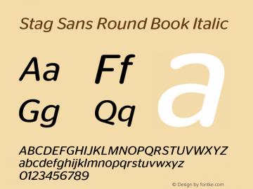 Stag Sans Round Book