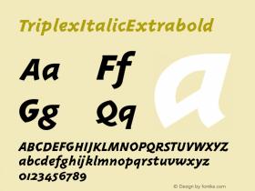TriplexItalicExtrabold