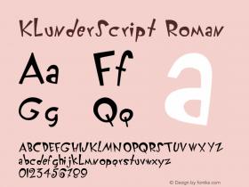 KlunderScript