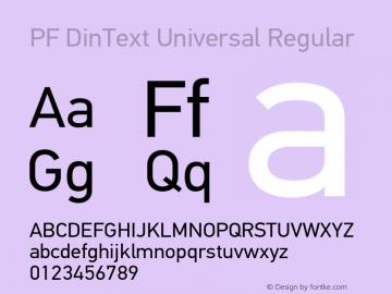 PF DinText Universal