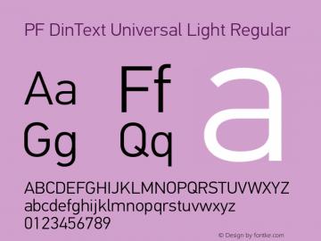 PF DinText Universal Light