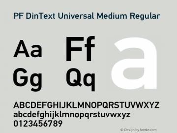 PF DinText Universal Medium