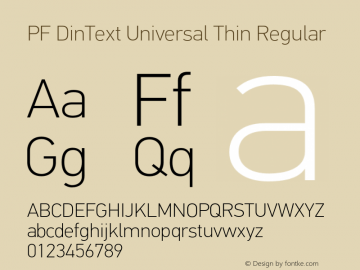 PF DinText Universal Thin