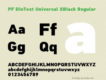 PF DinText Universal XBlack