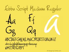 Ebbu Script Medium