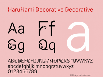 HaruNami Decorative