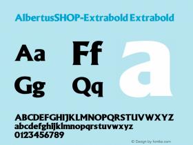 AlbertusSHOP-Extrabold