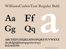 WilliamsCaslonText Regular