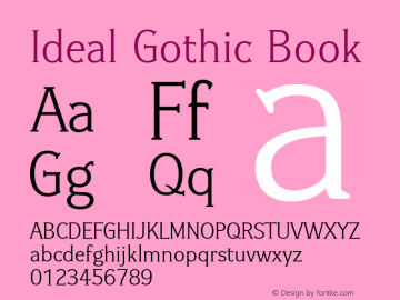 Ideal Gothic