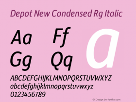 Depot New Condensed Rg