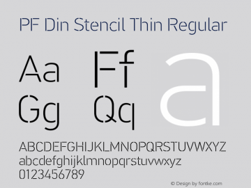 PF Din Stencil Thin