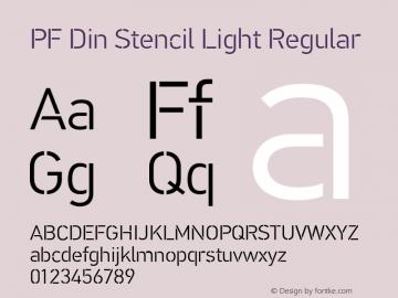 PF Din Stencil Light