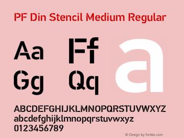 PF Din Stencil Medium