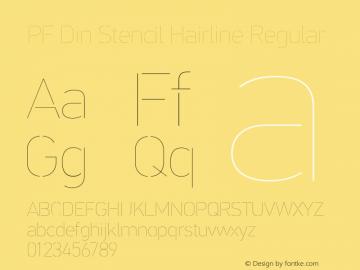 PF Din Stencil Hairline