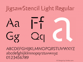 JigsawStencil Light