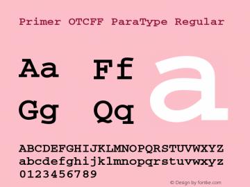 Primer OTCFF ParaType