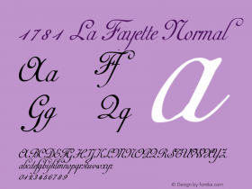 1781 La Fayette