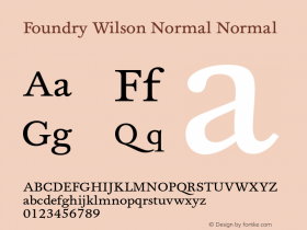 Foundry Wilson Normal