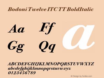 Bodoni Twelve ITC TT