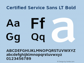Certified Service Sans LT