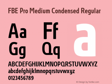FBE Pro Medium Condensed